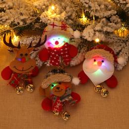 Snowmen broocheS online shopping - DIY Decoration Dolls Santa Snowman Elk Christmas Glowing Brooch Decoration Christmas Luminous Brooch Xmas Party