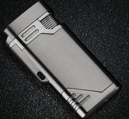 torch lighter free shipping 2019 - Compact Jet Lighter Torch Cigarette Lighters Flat Windproof Metal Smoking Lighter 1300 C Butane Lighter Free Shipping ch