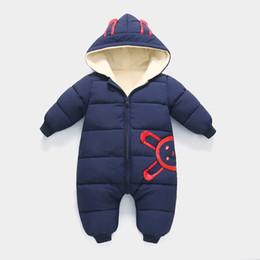 a521cbb19 2018 New Autumn Winter Jumpsuit Baby Newborn Snowsuit Fotografia Boy Warm  Romper Down Cotton Girl clothes Bodysuit