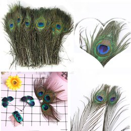 $enCountryForm.capitalKeyWord Australia - Top quality peacock feathers length 25-30CM beautiful natural peacock feather Diy jewelry craft gift party Decoration Deco fittings