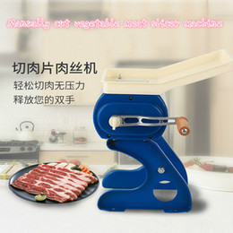 meat blades Canada - High quality Commercial Stainless steel blade Meat cutting machine Meat slicer Manually Meat slicing machine