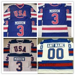 Team Hockey Uniforms NZ - Custom 3 Ken Morrow Jersey 1980 Team USA Hockey Jerseys 16 Mark Pavelich 20 Bob Suter Men's Stitched USA Vintage Hockey Uniforms Blue White
