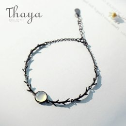 $enCountryForm.capitalKeyWord Australia - Thaya Moonstone Branch Bracelet S925 Silver Twilight Thin Chain Dainty Gemstone Bracelets Handmade For Women Ladies Jewelry Gift J190611