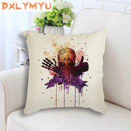 $enCountryForm.capitalKeyWord NZ - Vintage Retro Square Pillowcase Throw Pillow Watercolor Swordsman Skull Printed Linen Cushion Sofa Car Waist Cushion Home Decor
