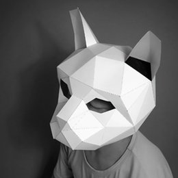 $enCountryForm.capitalKeyWord NZ - Cute Cat 3D Puzzle Paper Stereo Animal Mask Cartoon DIY Dance Party Christmas Gifts Toys Headgear Model Props Halloween Cosply Costumes