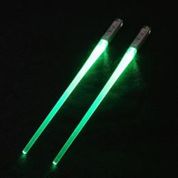 Venta al por mayor de 1 par de palillos de sable de luz LED iluminan duradera, liviana, portátil, ecológica, rosa, fiesta, palillos verdes # K12