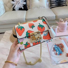 Ladies Handbag Fabric Australia - 2019 Womens Luxury G Designer Ace Strawberry Handbags Square Lock Leather Lady Fashion Cover Shoulder Bags Party Totes With Box
