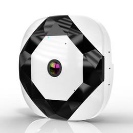 venda por atacado Câmera de vigilância inteligente sem fio wifi detecção de 360 graus eletrônico olho de gato câmera de rede panorâmica monitor remoto