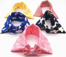 Cartoon Towel Dog Australia - Beautiful pet bow tie pet bow tie scarf cat dog General Pet saliva towel