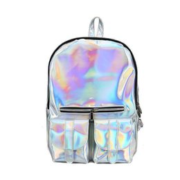 a4d60ebdb641 Discount colorful fashion backpacks - good quality Colorful Laser Design Backpack  Female Fashion Bright School Backpack
