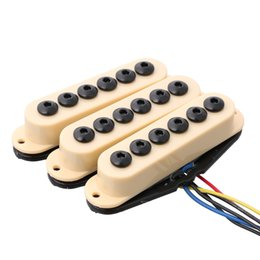 guitar neck for fender 2019 - 3pcs Ivory Guitar Single Coil Pickup Neck For Strat Invader Type N M B