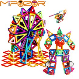 magnetic blocks educational Australia - MIPOZOR 82-214pcs Mini Magnetic Designer Model Building Construction Kits 3D Blocks Kids Educational Toys Constructor bricks DIY Y190530
