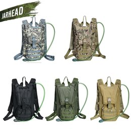 plain packs NZ - 2.5L Water Bag Sport Riding Tactical Camel bag Backpack Hydration Military Camouflage Pouch Rucksack Camping Pack Bicycle Bag