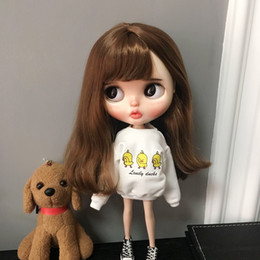 $enCountryForm.capitalKeyWord Australia - B240-1 Blyth Doll bjd clothes 30cm 1 6 dolls Azone Accessories handmade Cartoon duck Sweatshirt 1pcs