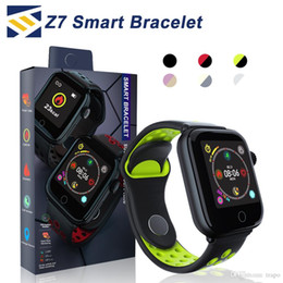 Step tracker watch online shopping - Z7 Smart Watch fitness tracker Heart Rate bracelet smartwatch Monitor IP68 Waterproof Step for apple watch PK DZ09 ios android smart phone