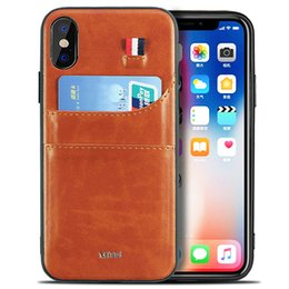 Luxury Credit Card Iphone Australia - Brand Slim PU Leather Case Vintage Protection For iPhone Xs Max XR X 8 7 6 6S Plus Luxury Back Cover with Credit Card Holder Phone Coque