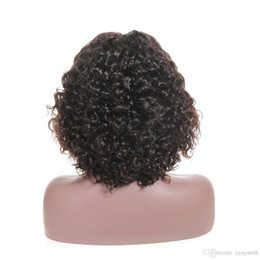 Middle part unprocessed huMan wigs online shopping - Cuticle Aligned Unprocessed Raw Human Brazilian Hair Invisible Middle Part Curly Bob Lace Front Wig