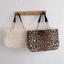 Girls plush handbaGs online shopping - Faux fur large capacity leopard crossbody bag women s winter plush shoulder Messenger bag ladies warm handbag girl Christma