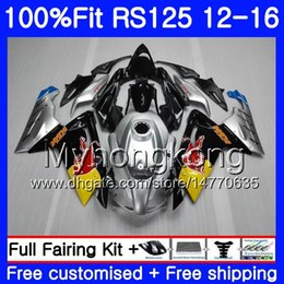 Rs 125 abs faiRing kit online shopping - Injection For Aprilia yellow red TOP RS RS125RR RS4 RS125 HM RSV125 RS OEM Fairing kit