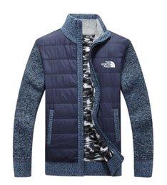 Novo norte dos homens jaqueta de tricô camisola casuais blusas de lã hick knit manter aquecido casacos ao ar livre outerwear cardigan man clothing venda por atacado
