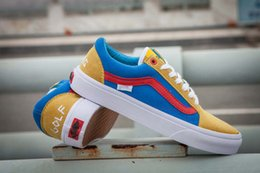 ea86659683fc2d Golf Wang NZ - Best Quality VANES OLD SKOOL PRO GOLF WANG ODD FUTURE YELLOW  BLUE