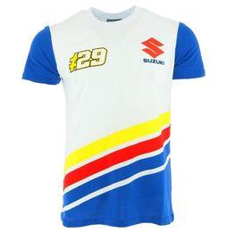 Breathable Summer Motorcycle Jackets Australia - MotoGP NO.29 100% Cotton T-Shirt For Suzuki Racing Team Motorcycle Racer Andrea Iannone T shirts Men's Summer Breathable Shirt