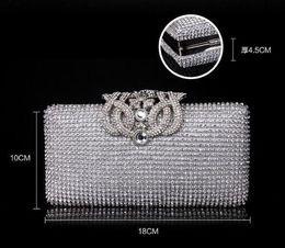 $enCountryForm.capitalKeyWord Australia - Nice- Fashion Womens Full Diamond Party Handbag Czech Diamond Crown Hard Case Clutch Evening Bag Chain Crossbody Messenger