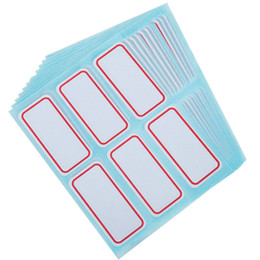 price tags stickers UK - New Self-adhesive paper label mouth take-off handwritten price tag classification Office School Business Classification adhesive stickers
