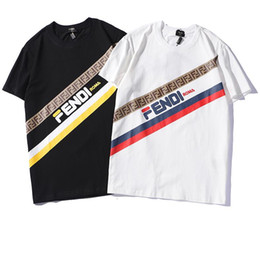 Brand Tshirts For Men UK - Summer Luxury T Shirts for Men Brand Designer FF Tshirts with Letters Fashion Short Sleeve Brand Tops Breathable Tees Mens Clothing