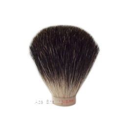Shavers For Head Australia - 3 Pieces Lot Black Pure Badger Hair Shaving Brush Head (Knot size 22mm) for DIY Beard Shaver Free shipping