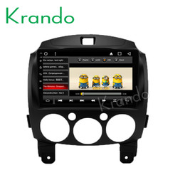 "mazda car dvd gps navigation UK - Krando Android 8.1 8"" IPS Touch screen car Multmedia player for Mazda 2 2007-2013 radio player video gps navigation wifi BT car dvd KD-MA415"