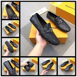 Wall Chains Australia - Men's business shoes WALL STREET DERBY 1A457F Luxury designer shoes Non-slip wear-resistant soles First layer of water-dyed sheepskin