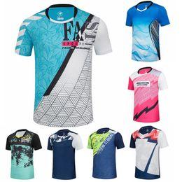 Опт 2020 Бадминтон Рубашки Спортивных Мужчины / Женщины Quick Dry дышащих Настольный теннис футболка рубашка Бег рубашка Фитнес Обучение T