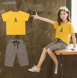 $enCountryForm.capitalKeyWord Australia - jimmybaby New Girls Clothing Sets Summer Girl Short Sleeve T-shirt + Shorts 2pc Suits Children Clothes Kids Girl Clothing Sets Kids Printed