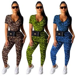 $enCountryForm.capitalKeyWord Australia - Women outfits pullover legging flared trousers fashion women clothes womens tops tees t shirt tops + pant sexy leopard suit klw1945