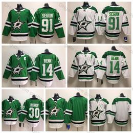 2019 Dallas Stars 91 Tyler Seguin Jersey 14 Jamie Benn Jerseys 30 Ben  Bishop Hockey Jerseys Green White Mens Stitched Shirts S-XXXL c81f4de73