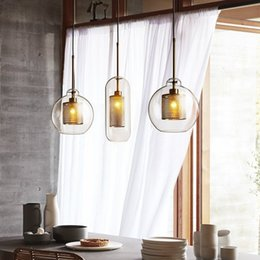 Loft Clothes Australia - Nordic minimalist designer industrial wind loft restaurant aisle porch cafe clothing store iron mesh glass pendant light