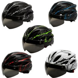 Magnetic bicycle online shopping - 2019 Mountain Bike Helmet EPS PC Helmet Bicycle Man MTB Matte Black Cycling Helmets Men s Women Magnetic Goggle Lens Removable