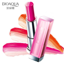 bite lip color 2020 - Official selling gradual change Bite lips Moisturizing Three color lipstick lip gloss Persistent Makeup Beauty tool chea