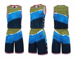 double sided shorts Australia - Men blank double-sided basketball team Uniforms kits Sports clothes tracksuits Personality Customized Basketball Sets tops With Shorts 36-10