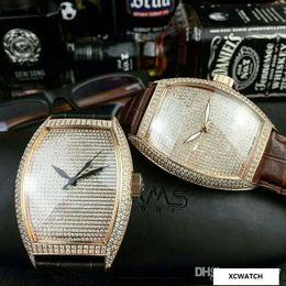 Pin Glasses Australia - Classic simple trend quartz watch popular fashion leisure quartz watch men sapphire crystal glass mirror leather watchband pin buckle