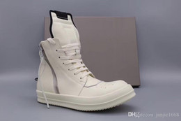 $enCountryForm.capitalKeyWord Australia - Small hooks classic inverted triangle really high boots 2018 high top genuine leather fashion solid white milk shoes