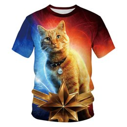$enCountryForm.capitalKeyWord UK - 3D Digital Print Couples Designer Tshirts Cartoon Cat And Avengers Short Sleeve Tees Mens And Womens Apparel