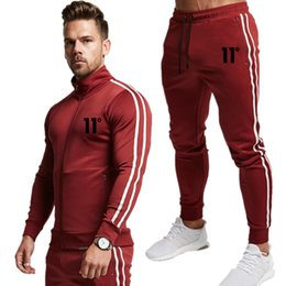 brown skin suit UK - 2019 men's fashion long-sleeved hoodie + pants suit men's soft skin-friendly sportswear sports suit gym casual sports