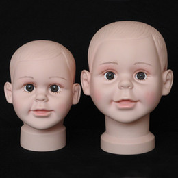 Hair Model Heads Australia - Fashion 1PCS Child Mannequin Manikin Head Model For Wig Hat Mould Show Display Stand Display wig hairs fast sending free ship