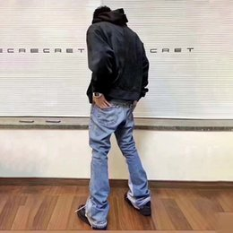 ingrosso i jeans svasati-Mens Designer Jeans Galleria Galleria Dept Remake Retro High Street Jeans Fashion Brand Classic Denim Pants Slim Flare
