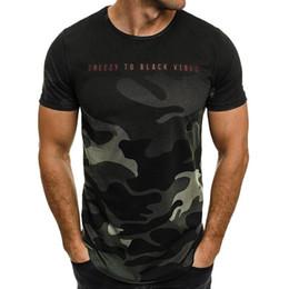 Camouflage T Shirt Men Polyester Australia - New Design Fashion Mens T-Shirt 2018 Summer Short Sleeve Camouflage T Shirt Men Brand Clothes Slim Fit Tshirt Men Clothes
