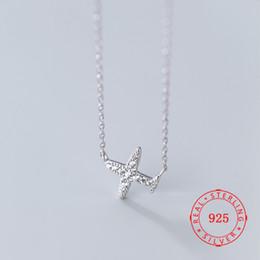 $enCountryForm.capitalKeyWord Australia - China Guangzhou Wholesale Pure 925 Sterling Silver Cute Cubic Zircon Airplane Pendant Necklaces for Women Female Necklaces & Pendants