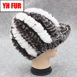 $enCountryForm.capitalKeyWord NZ - Real Rex Rabbit Fur Hat Women Winter Knitted Real Natural Rex Rabbit Fur Caps Brand Lady Warm Casual Beanies Wholesale Retail