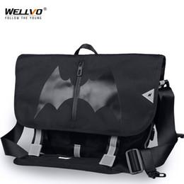 $enCountryForm.capitalKeyWord NZ - New Bat Pattern Large Men Bicycle Messenger Bag Boys Skateboard Laptop Bike Bags Male Nylon Shoulder Bag Bolso Bicicleta XA220ZC